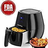 Air Fryer 4.3 Quarts/4L Hot Airfryer Cooker with Cookbook Digital Timer Temperature Control Touchscreen Auto Shut off & Dishwasher Safe No Oil Healthy FDA Approved Review