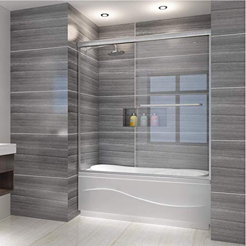 ELEGANT Bypass 2 Sliding Shower Tub Door, 58.5