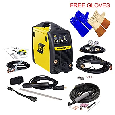 Esab Fabricator 141i Welding Machine w/ TIG Torch W4013802, Welding & Tig Gloves