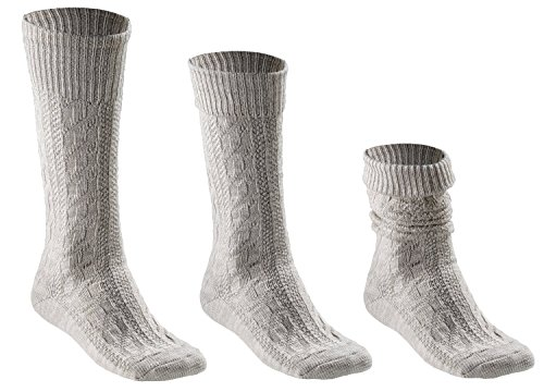 Trachtensocken - 3-Way-DELUXE für Damen und Herren - 1 Paar - auf drei Arten zu tragen - Gr. 43-46
