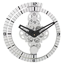 Maple's Moving Gear Wall Clock, Spiral Ring Dial