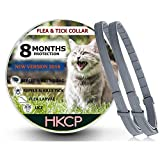 HKCP Flea and Tick Collar for Cat - Prevention Control for Cat-8 Months Protection Allergy-Free Medicine-Waterproof flea tick Collar -2 Packs