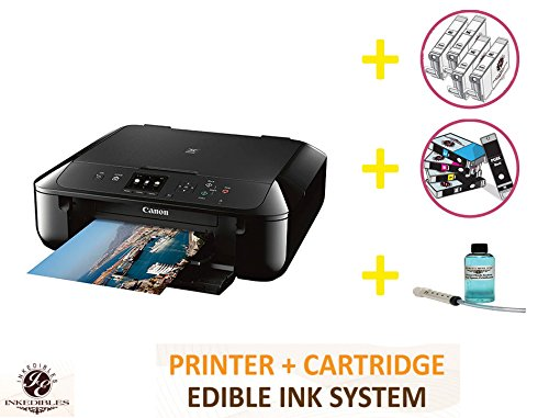 YummyInks Brand DELUXE PACKAGE 2: YummyInks Brand CANON PIXMA MG5720 BUNDLED PRINTING SYSTEM - INCLUDES EXTRAS