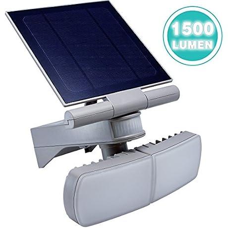 Solar Powered Motion Sensor Light ANKO 1500Lumen Adjustable Head IP44 Waterproof Outdoor Solar Wall Light With Three Control Dials Suitable For Patio Deck Yard Garden Driveway Etc 1 PACK