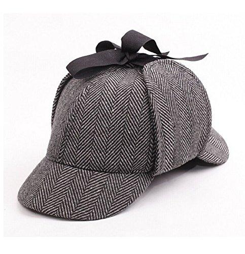 Sherlock Hat (Aovei® Unisex Sherlock Holmes Detective Hat Deerstalker (A))