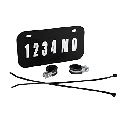 Raider FS-12000 ATV/UTV License Plate Kit with Numbers and Letters Included (7.5 in x 4 in): Automotive