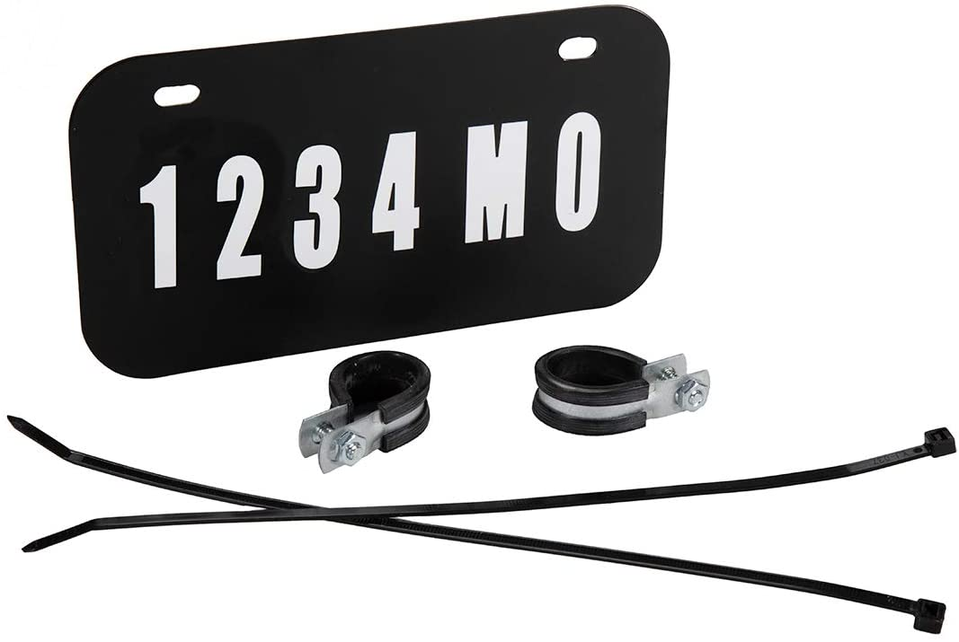 Raider FS-12000 ATV//UTV License Plate Kit with Numbers and Letters Included 7.5 in x 4 in