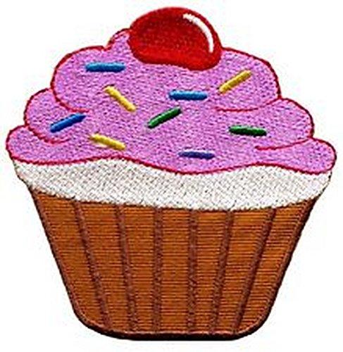 Spinner Patches Cupcake retro disco fun applique iron-on patch IG #202 Idea Bag Cloth Tee Shirt ()