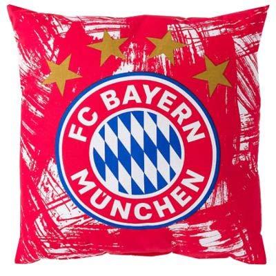 FC Bayern Fan Original Kissen München 40 x 40 cm rot-weiß 100 % Baumwolle