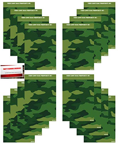 Camouflage 16 Pack Army Military Camo Party Plastic