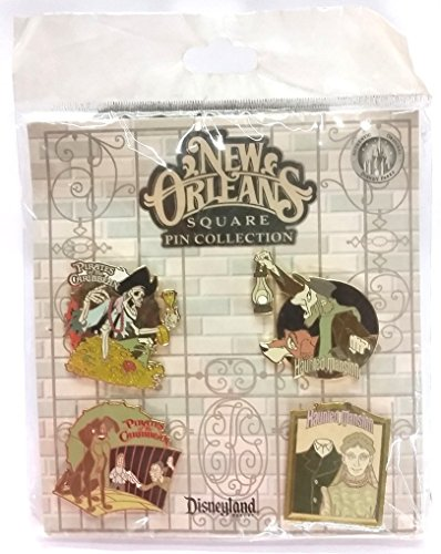 (Disneyland New Orleans Square Pin Collection 4 Pins New)