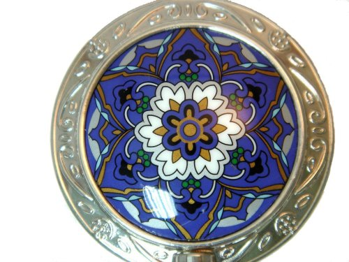 Royal Blue Floral Purse Hanger (Royal Blue/Silver)