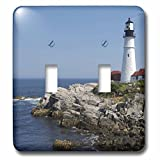 3dRose lsp_90737_2 Portland Head Lighthouse, Cape Elizabeth Me Us20 Krs0002 Keith and Rebecca Snell Light Switch Cover