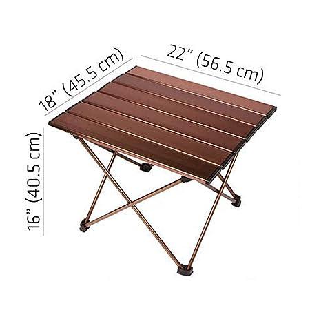 PA® Mesa Plegable de Aluminio Portátil Camping Terraza Jardín Mesa ...