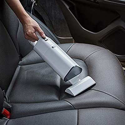 Wireless Car Vacuum Cleaner 120W Powerful Lightweight Wet Dry Handheld Vacuum Cordless for Home and Car Cleaning (White): Home & Kitchen