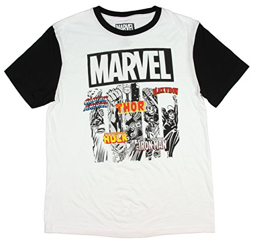 Marvel Classic Comics Character Favorites Men's Ringer T-Shirt