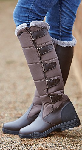 FORTE WINTER BROGINI BROWN LINED LONG RIDING Brown COUNTRY HORSE FUR BOOTS FAUX d1BBq5wr