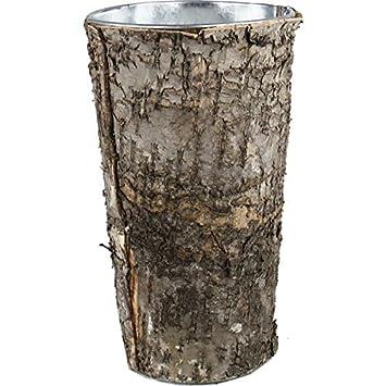 Amazon.com: CYS® Zinc Pot with Natural Birch Wood Wrap Zinc Cylinder ...