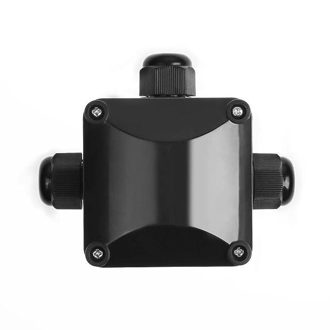 IDEAPRO 4pcs caja de derivación IP68 resistente al agua 3 way conectores de cable exterior/subterráneo eléctrico externo Cable funda Ø 5,5 mm-10.2 mm: ...