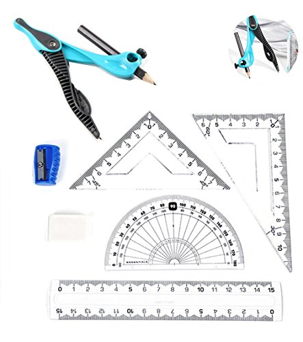 Drawing Parallel Lines With Compass : Math compass for geometry ruler set drafting tools