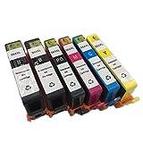 INKMATE 6 Pack ( BK / PB / M / C / Y ) Show Ink Level Remanufactured Ink Cartridge for 564 XL 564XL Photosmart 7510 7520 B8550 C6340 C6350 C6380 D5445 D7560 D5460