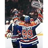 Facsimile Autographed Wayne Gretzky Celebration- Edmonton Oilers