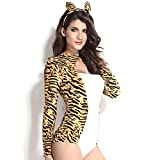 Slocyclub Women's Cute Cheetah Luscious Halloween Costume Leopard Suit