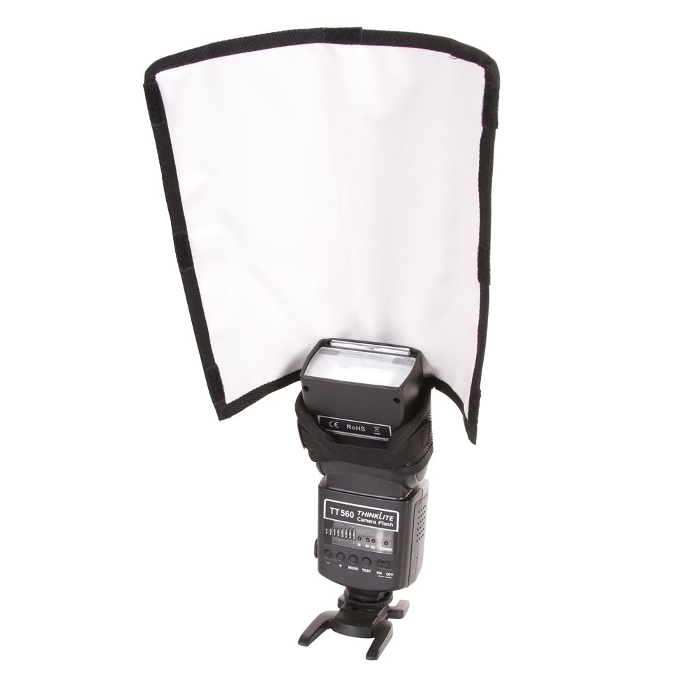 Foto4easy Foldable Universal Flash Diffuser Snoot Reflector Lambency For Canon Nikon (Large Size)