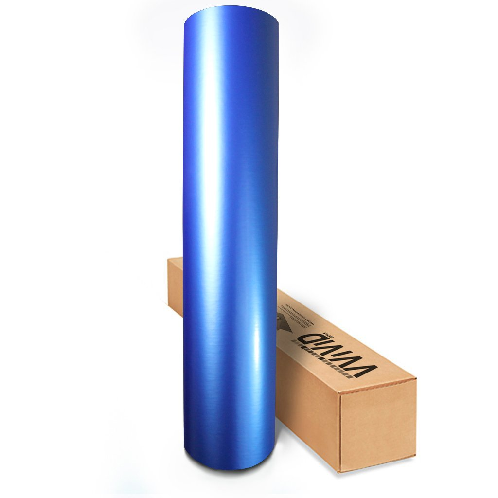VViViD Semi-Gloss Satin Metallic Blue Automotive Vinyl Wrap Roll 1.49ft x 5ft