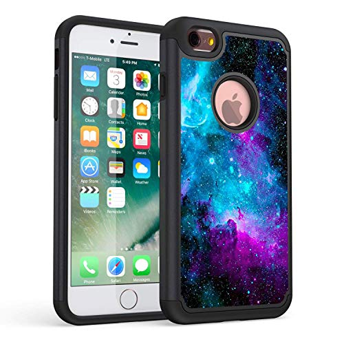 Rossy iPhone 6S Plus Case, Galaxy Nebula Space Shock-Absorption Hard PC and Soft Silicone Dual Layer Hybrid Armor Defender Protective Case Cover for Apple iPhone 6S Plus/iPhone 6 Plus 5.5