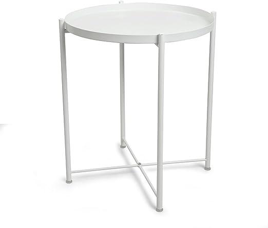 CORNERIA Mesa plegable para mesa auxiliar - Mesa auxiliar de metal ...
