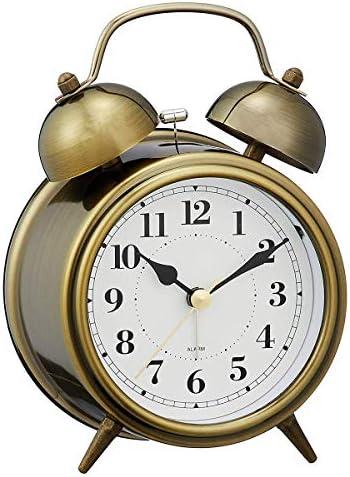 クリエイティブシンプル漫画目覚まし時計ノスタルジックメタルフレーム寝室のベッドサイドレトロ人格クリエイティブ学生デジタルポインター小さな目覚まし時計