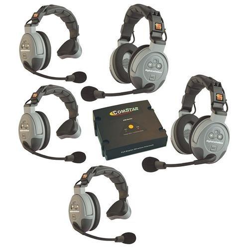 System Intercom Person (Eartec Comstar XT-5 5 Person Full Duplex Wireless Intercom System)