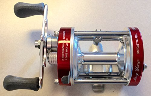 Ming Yang CL60L Red Baitcast Conventional Fishing Reel Lefthanded Left Catfish Saltwater