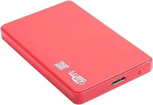 H HILABEE PCラップトップ用バックアッププラススリム外付けハードドライブポータブルSATA HDD、赤 - 2T