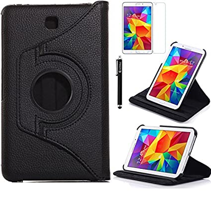 best sneakers a033d 0d5c0 Tab 4 7.0 Case, AiSMei Rotating Case For Samsung Galaxy Tab 4 7.0  SM-T230,SM-T231, SM-T230NU Tablet PC,7-Inch PU Leather Case [Bonus  Stylus+Screen ...