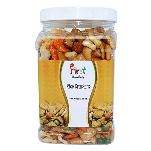 FirstChoiceCandy Oriental Rice Crackers (21 oz) in Reusable Food Container