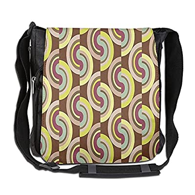 5fd63a96d6 durable service Lovebbag Vintage Hippie Modern Decor With Geometric  Colorful Rounds Circles Crossbody Messenger Bag
