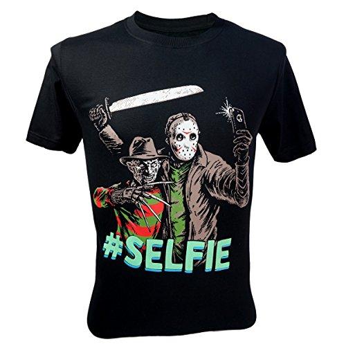 Immortal Men's freddy krueger VS Jason 13th Friday #Selfie T-Shirt Black Large
