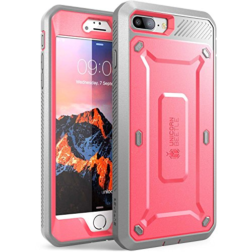 SUPCASE-iPhone-7-Plus-Case-iPhone-8-Plus-Case-Unicorn-Beetle-PRO-Series-Full-body-Rugged-Holster-Case-with-Built-in-Screen-Protector-for-Apple-iPhone-7-Plus-2016-iPhone-8-Plus-2017-PinkGray