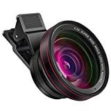 Phone Camera Pro Lens Kit , Oroncho 58 MM 0.5X Super Wide Angle Lens + 15X Macro Lens with Travel Case, Clip on Cell Phone Camera Lens Compatible with iPhone ,Samsung, Pixel ,Most Smart Phone