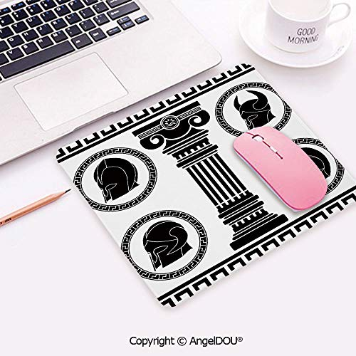 300 Spartan Costumes Pattern - Rectangle Mouse Pad Non-Slip Rubber Mouse