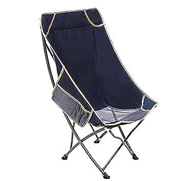 ANHPI Portable Klappstuhl Gartenstuhl Hocker Camping Strandkorb Angeln  Stuhl Sun Lounge Chair,HideBlue