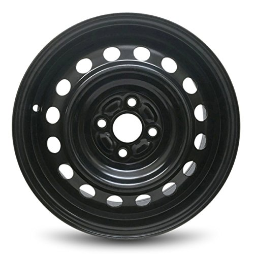 Tires Hyundai Accent - Road Ready Car Wheel For 2018 Hyundai Accent Kia Rio 15 Inch 4 Lug Black Steel Rim Fits R15 Tire - Exact OEM Replacement - Full-Size Spare