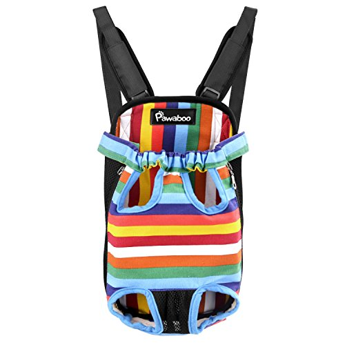 Pawaboo Pet Carrier Backpack, Adjustable Pet Front Cat Dog Carrier Backpack Travel Bag, Legs Out, Easy-Fit for Traveling…