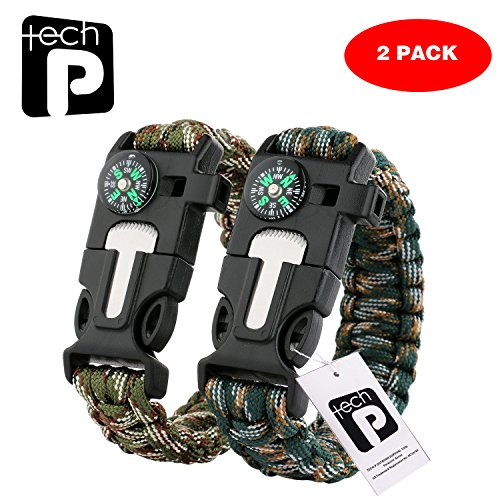 TECH-P-5-in-1-Multifunctional-Paracord-Bracelet-Outdoor-Survival-Kit-W-Compass-Flint-Fire-Starter-Scraper-Whistle-For-Hiking-Camping-Emergency-More