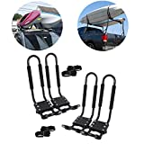 TC-Home 2 Pairs J-Bar Rack Kayak Holder 150 lbs