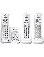 Panasonic KXTGD593W Dect_6.0 3-Handset Landline Telephone