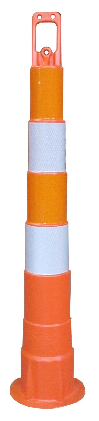 Work Area Protection CC42 Linear Low Density Polyethylene Channelizer Traffic Cone with Engineering Grade Reflective Sheeting, 6'' Diameter x 42'' Height