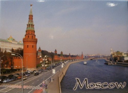 Moscow Russia Fridge Collectors Souvenir Magnet 2.5 X 3.5